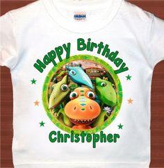 Personalized Dinosaur Train Birthday Tshirt Favor T-shirt