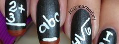 Nail Art How To: Back-to-School Chalkboard Nails
