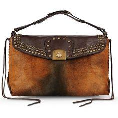 Sergio Rossi Viva Barbaro Skottish Handbag ($1,389) ❤ liked on Polyvore