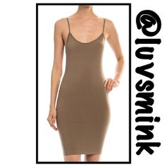 CAMI BODYCON SLIPS - SET OF 3 Whether you need a lining under a dress or tunic, or just to extend the length of your top; this Cami bodycon slip will be your BFF. Scoop neck with a straight back, OSFM with 92/8 Nylon/Spandex; will fit depending upon your body style and shape. Nice quality, can be worn without a bra, although no built in bra. No holds or trades; price is firm, unless bundled. This listing is for the colors TAN, WHITE, BROWN Boutique Intimates & Sleepwear Chemises & Slips