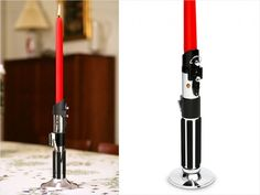 Star Wars Light Saber Candlestick