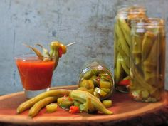Cocktail Pickles Gift Assortment - Okra, Dilly Beans, and Honey Jalepenos from www.copperpottraditions.com