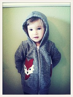 Children's Fox Hoodie, eco-friendly felt and American Apparel Hoodie. $38.00, via Etsy.