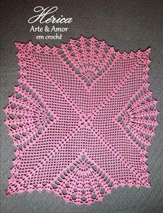 Discover thousands of images about Mas imagenescaminos de mesa a crochet en colores Crochet Lace Edging, Crochet Doily Patterns, Crochet Designs, Crochet Doilies, Crochet Flowers, Crochet Stitches, Crochet Table Runner, Crochet Tablecloth, Crochet Home