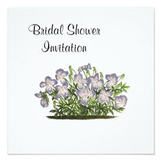 bridal shower invitations violets cheap inexpensive bridal shower party card