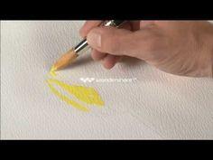 Trabajo de veladuras Watercolor Video, Watercolour Tutorials, Watercolor Paintings, Fall Paintings, Watercolours, Autumn Painting, Art Abstrait, Art Tutorials, Paint Colors