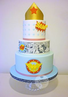 Wonder Woman Cake - For all your cake decorating supplies, please visit craftcompany.co.uk