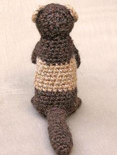 Ravelry: Bunsie the ferret aka polecat pattern by Sonja van der Wijk Easy Crochet Animals, Knitted Animals, Knit Or Crochet, Crochet Hooks, Knitting Projects, Crochet Projects, Crochet Ideas, Crochet Amigurumi Free Patterns, Pattern Images