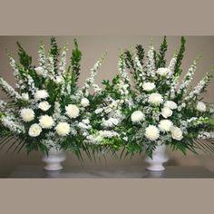 W Flowers product: White Altar Arrangements