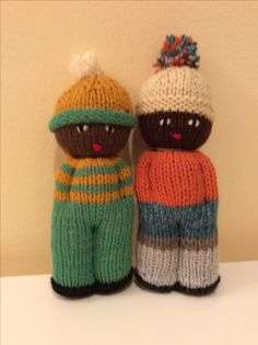 I love knitting comfort dolls.