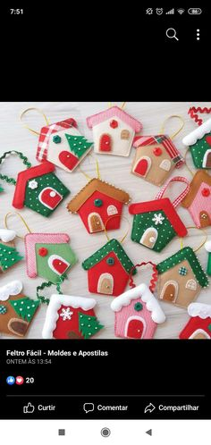 Craft Stick Crafts, Felt Crafts, Holiday Crafts, Diy And Crafts, Felt Christmas Ornaments, Christmas Makes, Christmas Time, Diy Gifts, Weihnachten
