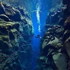 Tectonic plate gap between Europe and North America