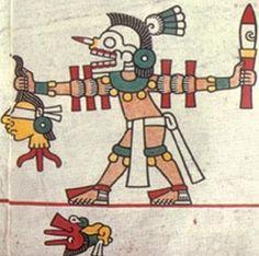 Sacrificio por decapitación, Códice Laud, lámina 20. Native Symbols, Mayan Symbols, Viking Symbols, Egyptian Symbols, Viking Runes, Ancient Symbols, American Indian Tattoos, Native American Art, American History