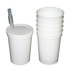 12-12 Oz White Plastic Drinking Glasses/ Cups Lids Straws Mfg.USA Lead Free in Home & Garden,Kitchen, Dining & Bar,Other Kitchen & Dining Items | eBay