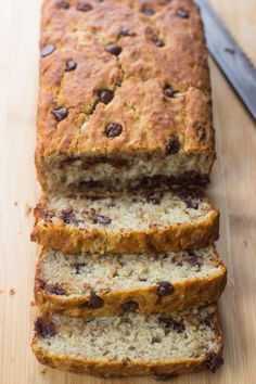 The Best Ever Super Moist Gluten Free Banana Bread - Pan sin Gluten Recetas Gluten Free Sweets, Gluten Free Chocolate, Gluten Free Cookies, Gluten Free Baking, Gluten Free Recipes, Healthy Recipes, Crowd Recipes, Flour Recipes, Meal Recipes