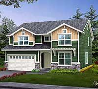 Narrow Lot House Plans   ... home plan for narrow lot popular craftsman home plan for narrow lot