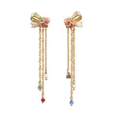 Collection Irrésistibles Noeuds http://shop.lesnereides.com/earrings/2944-post-earrings-irresistibles-noeud-half-knot-and-pendants-3700377788248.html