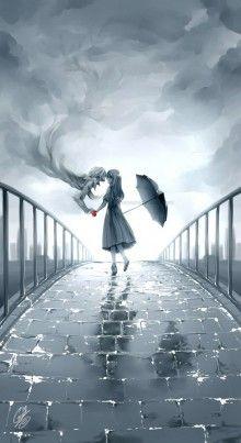 Una goccia di pioggia che ti cade sulla guancia è un bacio da parte di qualcuno che vive in cielo e che veglia su di te...