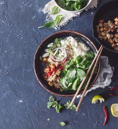 Thajská polévka z červené čočky a batátů   Recepty Albert Tofu, Ethnic Recipes