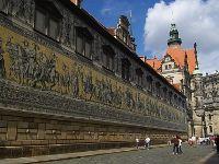 Fürstenzug in the historical oldtown of Dresden