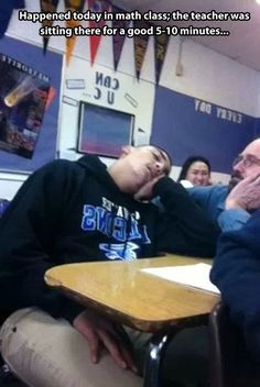 Sleeping in math class… // funny pictures - funny photos - funny images - funny pics - funny quotes - #lol #humor #funnypictures