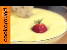 Zabaione - YouTube Chef, Tutorial, Dolce, Video, Mousse, Strawberry, Pudding, Fruit, Eat