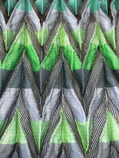 Designer Angharad McLaren's shibori-inspired woven fabric