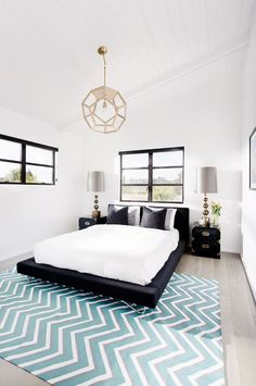 Bright guest room space