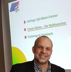 """""""Opti-Maler-Partner ist die einzige starke und eingetragene Maler-Franchise-Marke"""".  So der Franchise-Beiratsvorsitzende Jochen Renfordt, bei seinem vielbeachteten Vortrag: """"Unsere Marke – Die Wettbewerber"""". Erste Impressionen der Management-Konferenz vom 11. bis 13. Januar in Karlsruhe"""