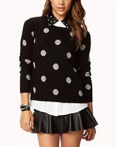Forever 21 Polka Dot Sweater worn by April Carver on Chasing Life. Shop it: http://www.pradux.com/forever-21-polka-dot-sweater-31116?q=s66