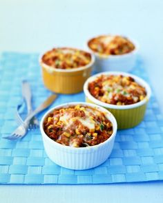 Individual Tamale Pies - I make this and instead of the Jalapenos, I use a can of chopped green 'chiles' (If you have kids, or anyone that has a tender tongue, this a very good substitution!)