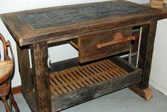 Google Image Result for http://i.ebayimg.com/t/Rustic-Industrial-Kitchen-Island-Repurposed-Barn-Wood-Metal-Mosaic-Slate-Tile-/00/s/Njk0WDEwMjQ%3D/%24(KGrHqIOKjIE5Vby!99dBOfNV57prw~~60_57.JPG