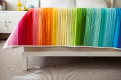 olive and ollie: Rainbow Jellyroll Quilt for Creativebug