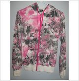 Ladies hooded multitude of colors jacket, Size-Small