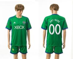 2014-2015 Seattle Sounders Home Green Customized Soccer Jerseys