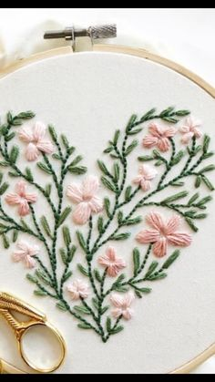 Creative Embroidery, Simple Embroidery, Hand Embroidery Stitches, Embroidery Fashion, Ribbon Embroidery, Embroidery Art, Cross Stitch Embroidery, Embroidery Designs, Sewing Art