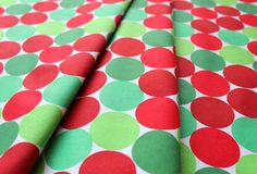 Springs Creative Products Christmas Basics Big Dots Red/Green