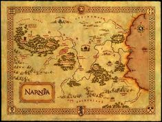 The Chronicles of Narnia's Narnia map