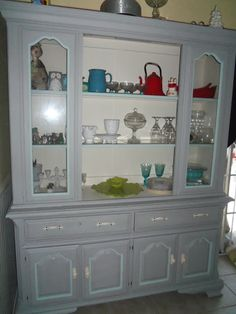 GOODWILL HUTCH MAKE-OVER---one crafty mess
