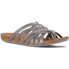 Ahnu Women's Maia Thong Sandals ($85) ❤ liked on Polyvore featuring shoes, sandals, silver, woven shoes, metallic sandals, toe thongs, braided sandals and metallic shoes