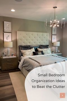 Dealing with clutter can give anyone a headache, especially if it's in our bedroom. To help you declutter your bedroom, here are our simple but effective small bedroom organization ideas to help you beat the clutter for good. Bedroom Ceiling, Bedroom Lighting, Bedroom Decor, Bedroom Ideas, Home Decor Trends, Home Decor Styles, Small Bedroom Organization, Organization Ideas, Home