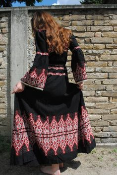 Jurk Boho boho maxi jurk vintage folk jurk door BalthazarVintage