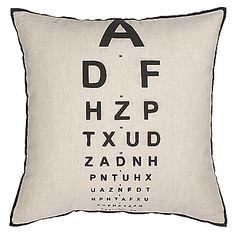 Buy John Lewis Eyetest Cushion, Black / White online at JohnLewis.com - John Lewis