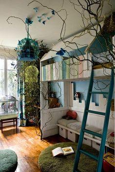 CôtéMaison.fr Chambre d'enfant : chouette, une mezzanine ! #Kidigreen #conseils #loft bed