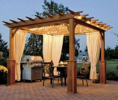 Have you ever wondered how to build a pergola? Here is a step-by-step guide on how you can build your very own pergola and save thousands in the process! Space First off, make sure you have the space for a pergola. While they can differ in size. Diy Pergola, Building A Pergola, Wood Pergola, Outdoor Pergola, Pergola Plans, Backyard Patio, Backyard Landscaping, Pergola Ideas, Pergola Curtains