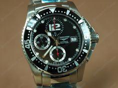ロンジンコピー時計 コピー時計【男性用】 Hydroconquest V SS/SS Black A-7750 オートマチック搭載.28800bph振動 小売価格: 27675 円 ムー ブメ ント :Asiaバルジュ7750 オートマチック搭載.28800bph振動   機 能:時針・分針・秒針            .12時位置:分単位表示.9時位置:秒単位表示.6時位置:時単位表示      .3時位置:日付カレンダー .2時ボタン:スタート/ストップ     .4時ボタン :リセット       文字盤 :ブラック サイズ :ケース直径:41.5mm                              厚さ:14mm 素 材:ステンレススチール(ベルト)                一体成型の鋳造加工(ケース)                ステンレススチール(ケース) リュ-ズ:ネジコミ 風 防:サファイアクリスタル 裏 蓋:硬質素材 防 水:日常生活防水