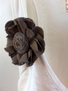 Upcycled Tshirt Flower Hair Clip/Broach