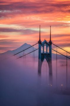 Fine art photographs of the St Johns Bridge in Portland Oregon