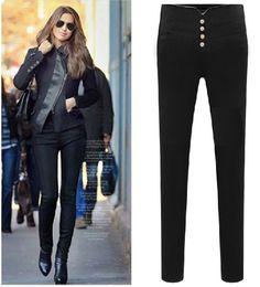 Large Size Plus Velvet Thickening Fashion High Waist Casual Winter Pants Pencil Trousers Women's Europe Elastic Skinny Leggings