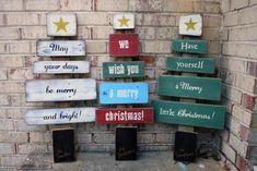 Wood Christmas Tree Holiday Decoration
